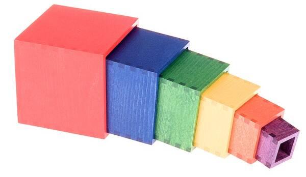 SINA Spielzeug Würfelturm - Stapelturm aus Holz