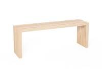 Die Holzbank von raumgestalt- Sitzbank aus Eichenlamellen 60 cm Eiche natur