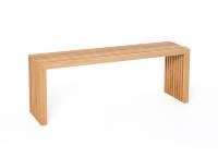 Die Holzbank von raumgestalt- Sitzbank aus Eichenlamellen 60 cm Eiche hell, geölt