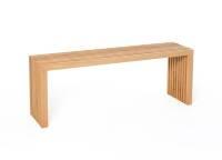 Die Holzbank von raumgestalt- Sitzbank aus Eichenlamellen 80 cm Eiche hell, geölt