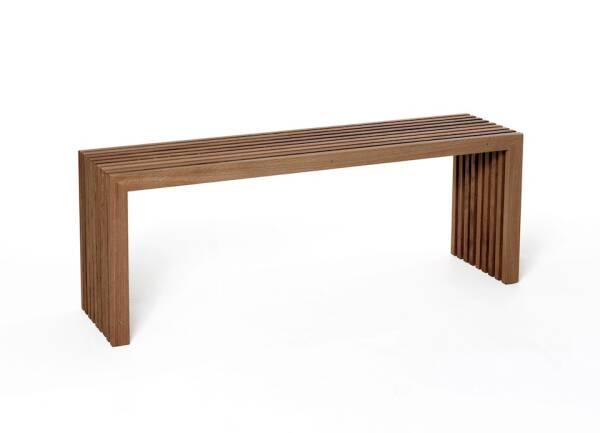 Die Holzbank von raumgestalt- Sitzbank aus Eichenlamellen 80 cm Eiche dunkel, geölt