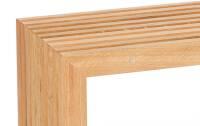 Die Holzbank von raumgestalt- Sitzbank aus Eichenlamellen 120 cm Eiche hell, geölt