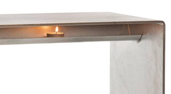 Wärmebank von raumgestalt aus dem Schwarzwald verzundert 60 cm