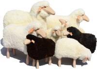 Schafe in Lebensgröße von Meier Germany Groß (80 cm) weißes Fell, gelockt