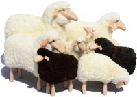 Schafe in Lebensgröße von Meier Germany Klein (60 cm) weißes Fell, gelockt