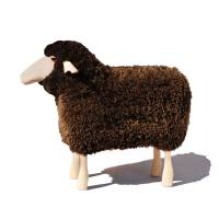 Schafe in Lebensgröße von Meier Germany Klein (60 cm) braunes Fell, gelockt