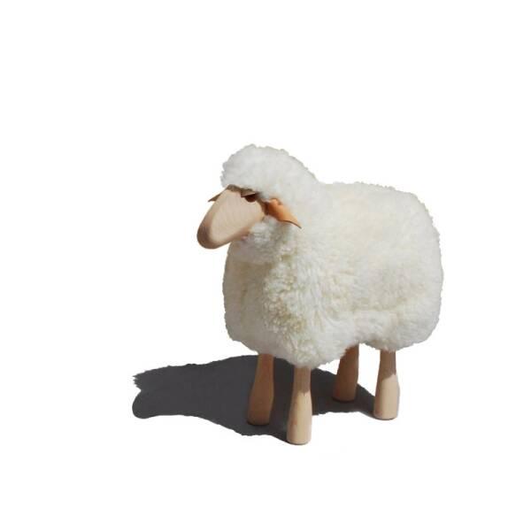 Schafe in Lebensgröße von Meier Germany Lamm (45 cm) weißes Fell, gelockt