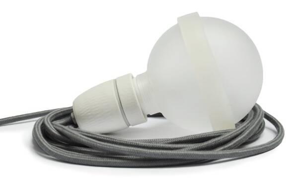 Legelampe von  raumgestalt mit Textilkabel Graue Lampe LL24