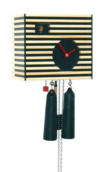 Kuckucksuhr klassisch modern von Rombach & Haas schwarz