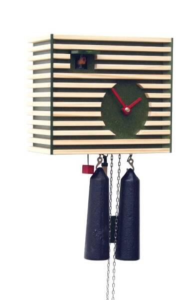 Kuckucksuhr klassisch modern von Rombach & Haas grün