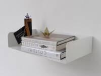 Poggibonsi Bücherregal Atelier Haussmann - Buchablage für Puristen 100 cm (H11,5 x L 100 x T 19 cm) weiss matt RAL 9016