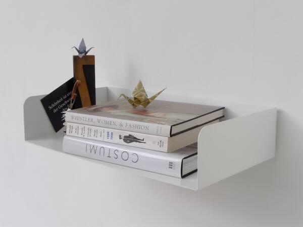 Poggibonsi Bücherregal Atelier Haussmann - Buchablage für Puristen 55 cm ( H11,5 x L 55 x T 29 cm ) weiss matt RAL 9016